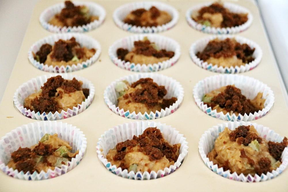 Coconut Sugar Rhubarb Muffin Recipe