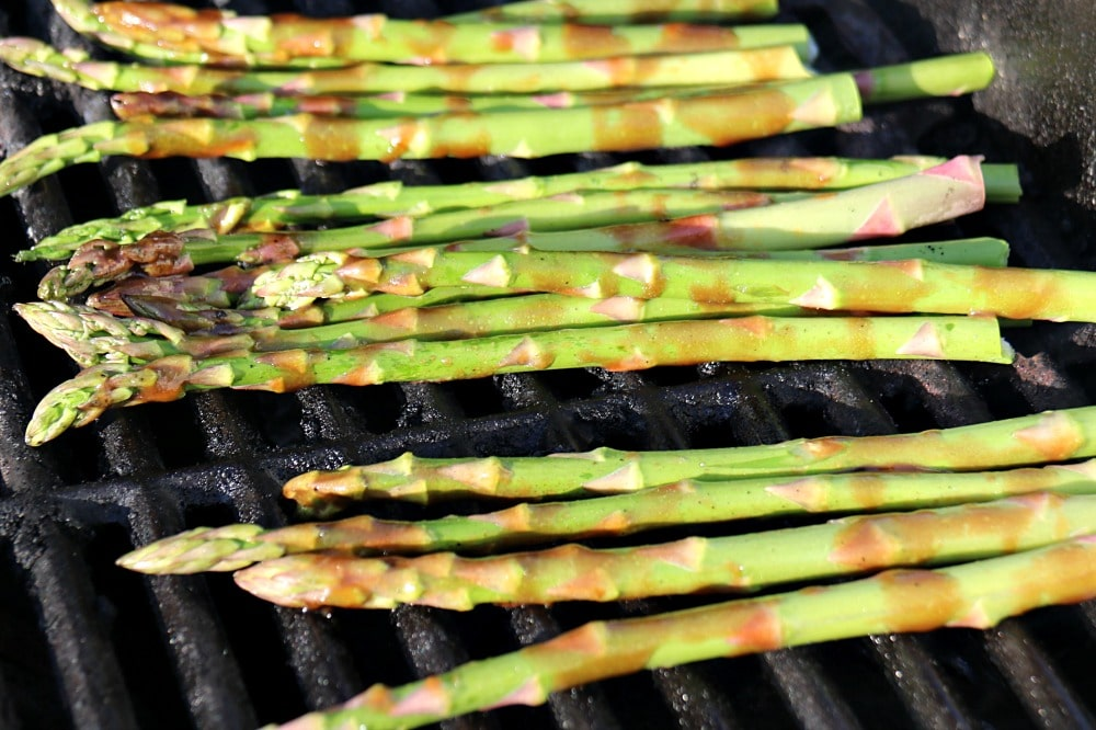 Honey Mustard Grilled Asparagus