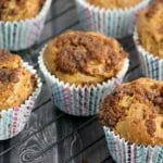 Coconut Sugar Topped Rhubarb Muffin Recipe #SweetByNature