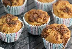Coconut Sugar Topped Rhubarb Muffin Recipe #SweetByNature