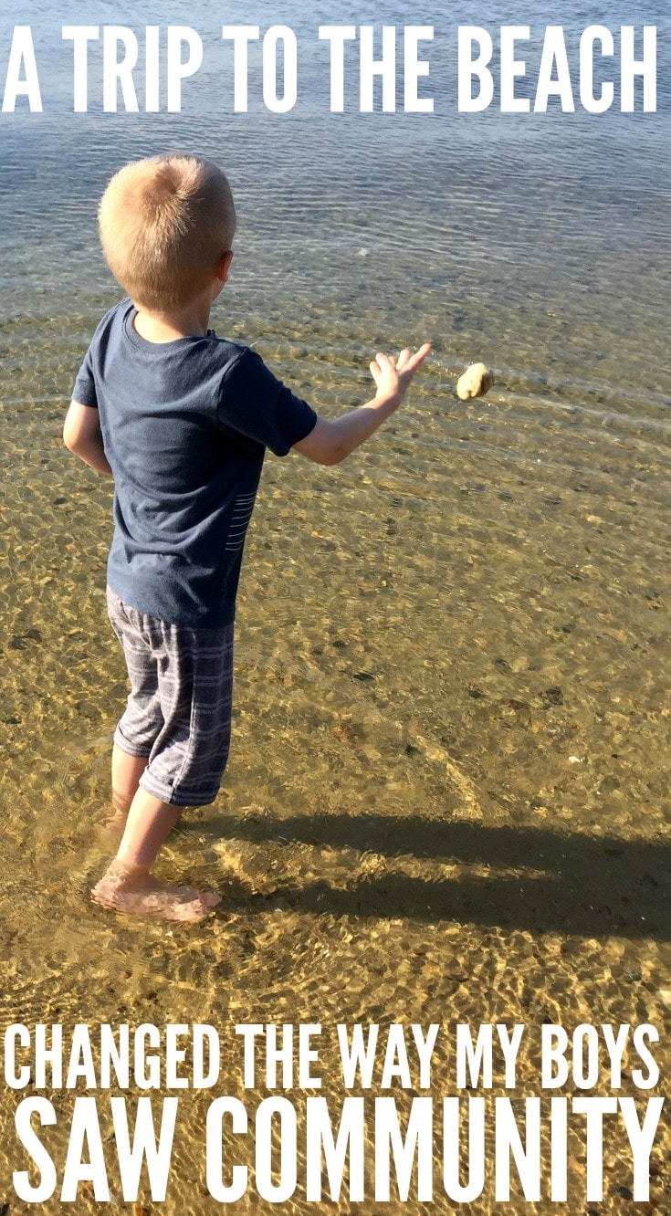 A Trip to the Beach Changed the Way My Boys Saw Community