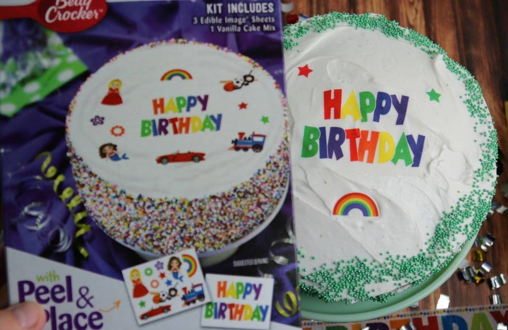 Betty Crocker Edible Image Kits Make Cake Decorating Easy