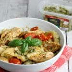 Chicken, Tomato, Basil and Cheese Pesto Pasta Recipe