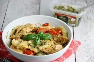 Chicken, Tomato, Basil and Cheese Pesto Pasta Recipe