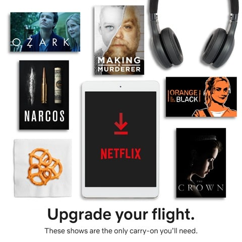 Upgrade your Flight with Netflix Downloads