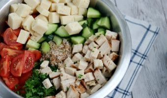 Chicken Swiss and Vegetable Bulgur Salad