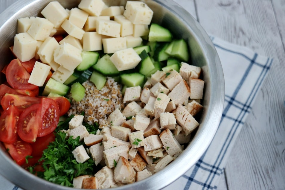Chicken Swiss and Vegetables Bulgur Salad