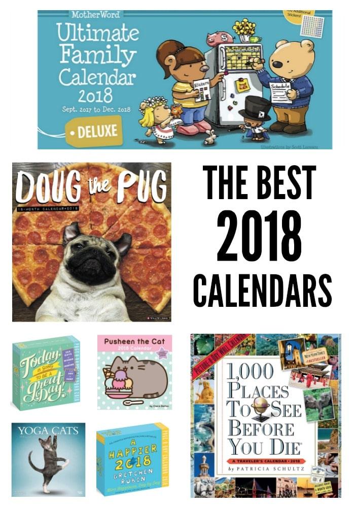 The Best 2018 Calendars