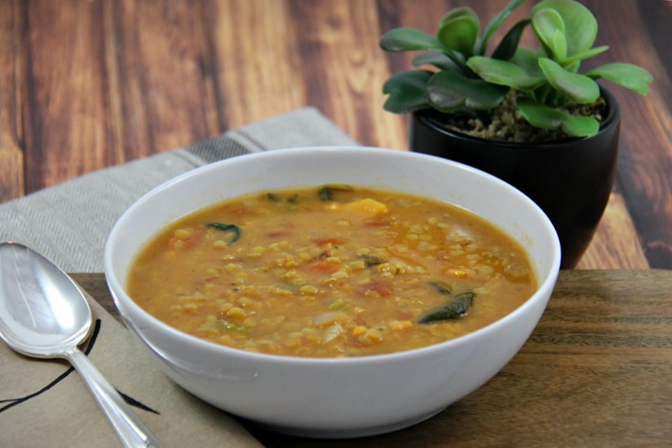 Slow Cooker Red Lentil and Carrot Soup H