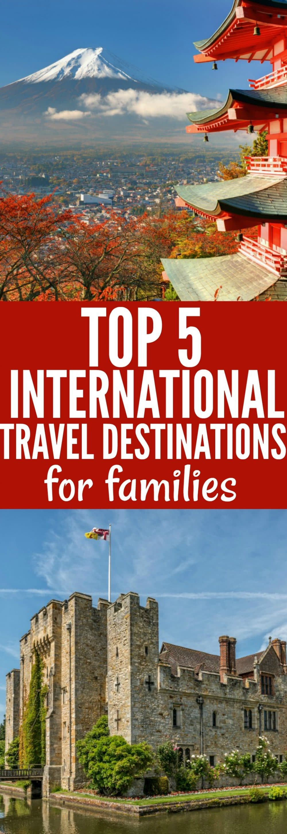 Top 5 International Travel Destinations for families