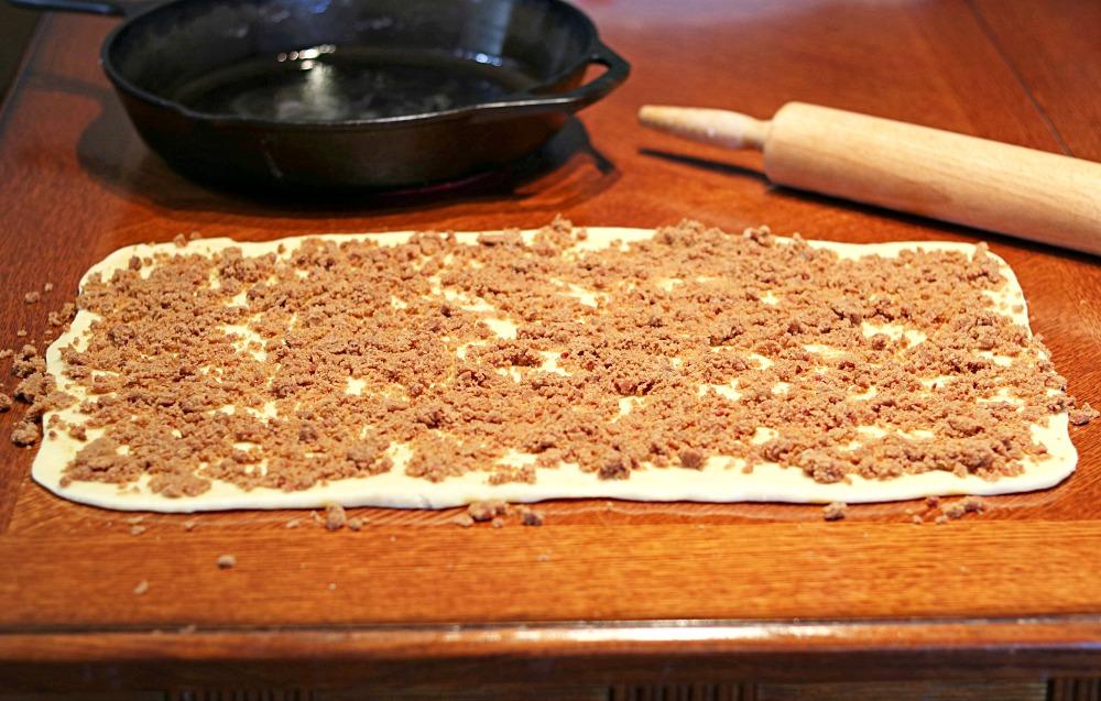 Skillet Cinnamon Rolls Filling