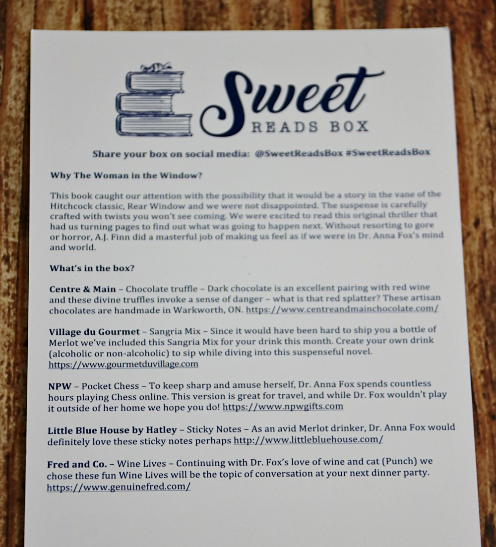 Sweet Reads Box April Content