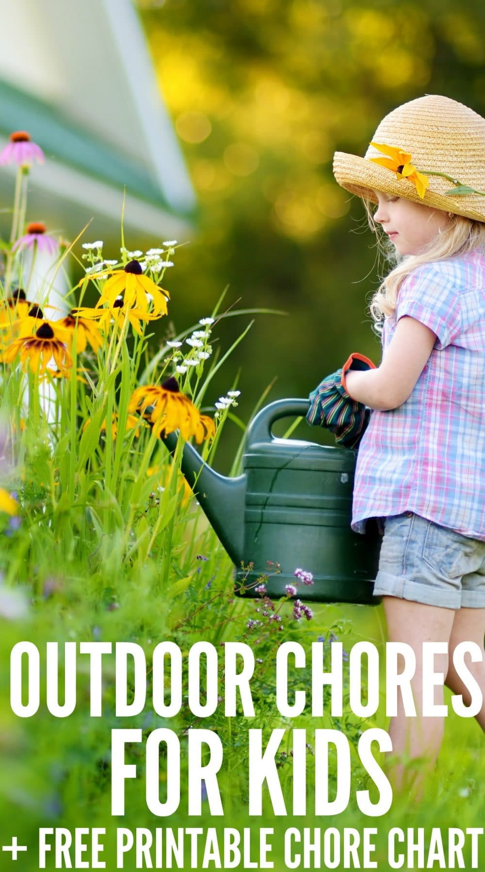 Outdoor Chores for Kids plus chart