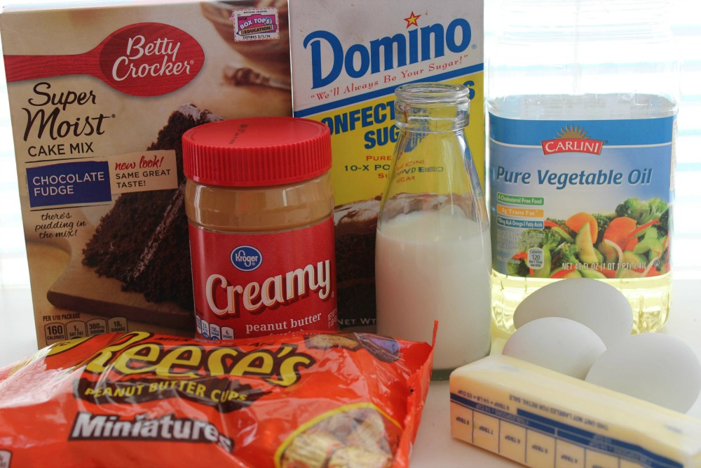Chocolate Peanut Butter Cupcakes Ingredients