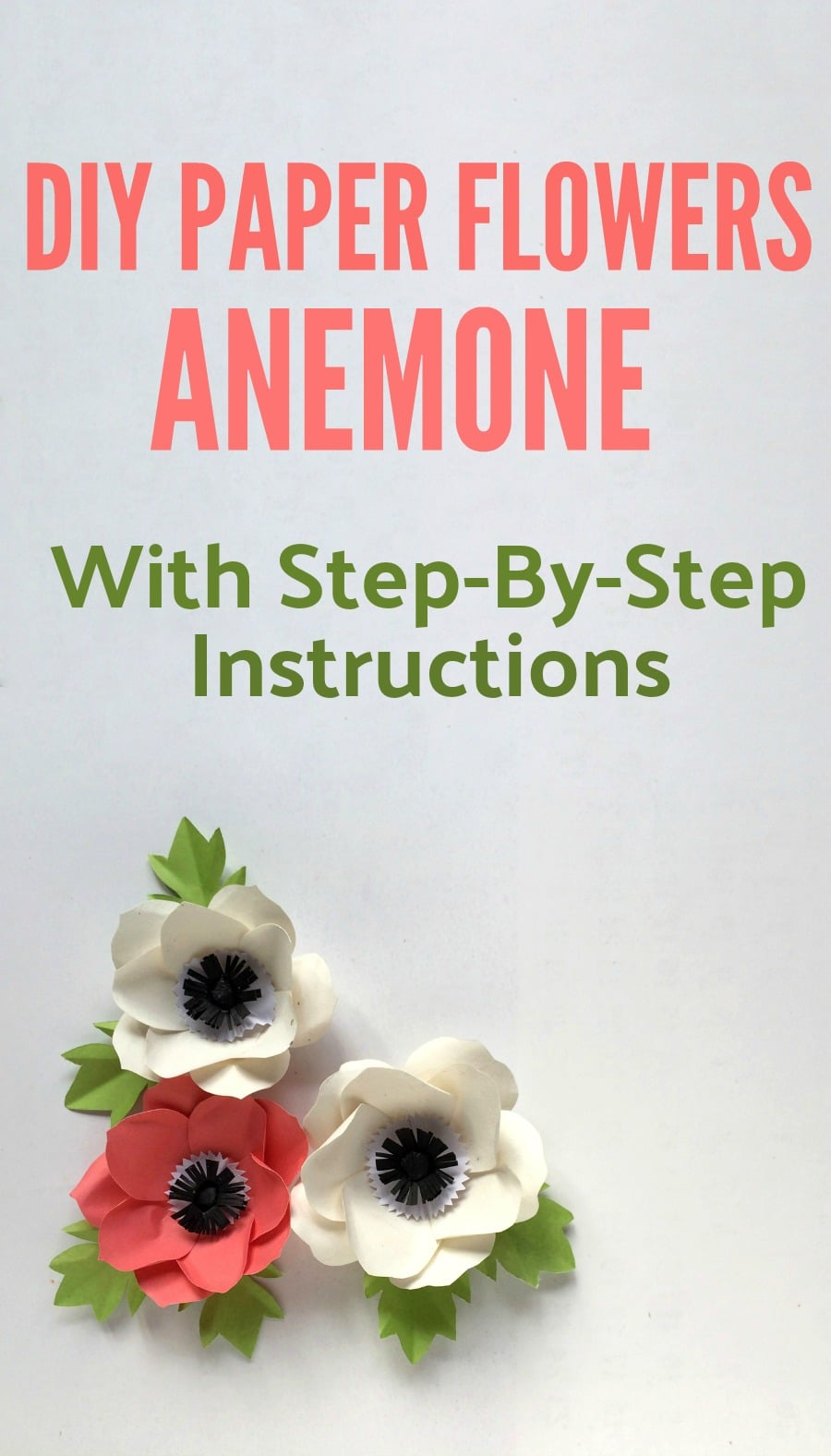 diy paper flowers anemone craft with step by step instructions