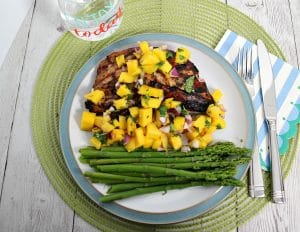 Hoisin Soy Marinated Grilled Turkey Breast with Fresh Mango Salsa