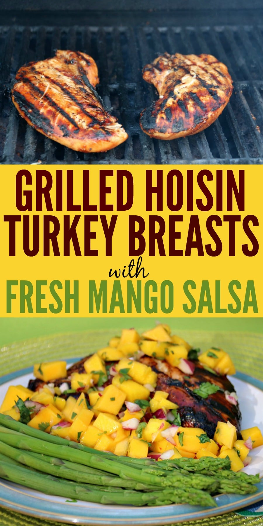 Grilled Turkey Breasts with Mango Salsa
