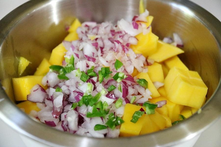 Fresh Mango Salsa Process