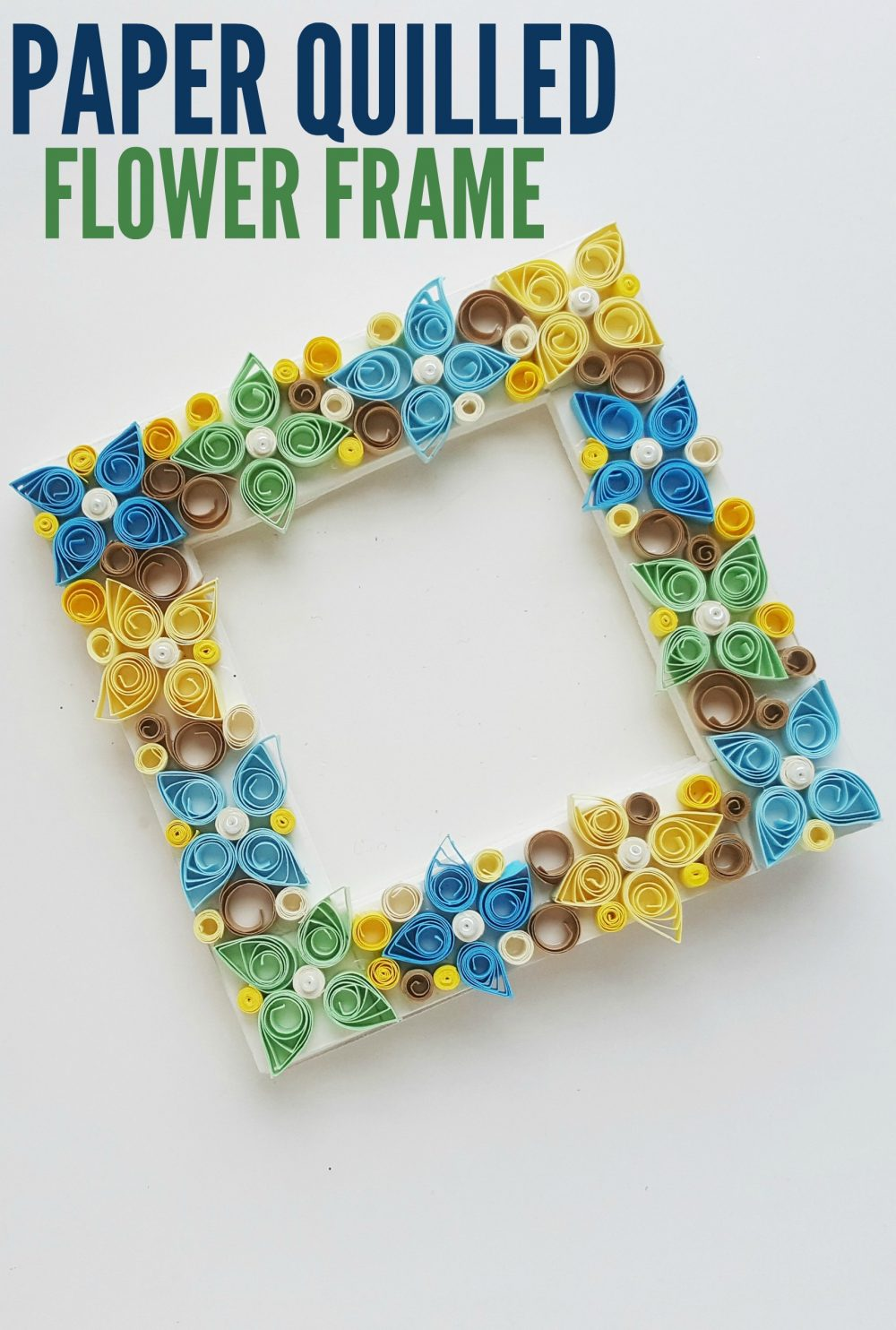 Paper Quilled Flower Frame Family Food And Travel
