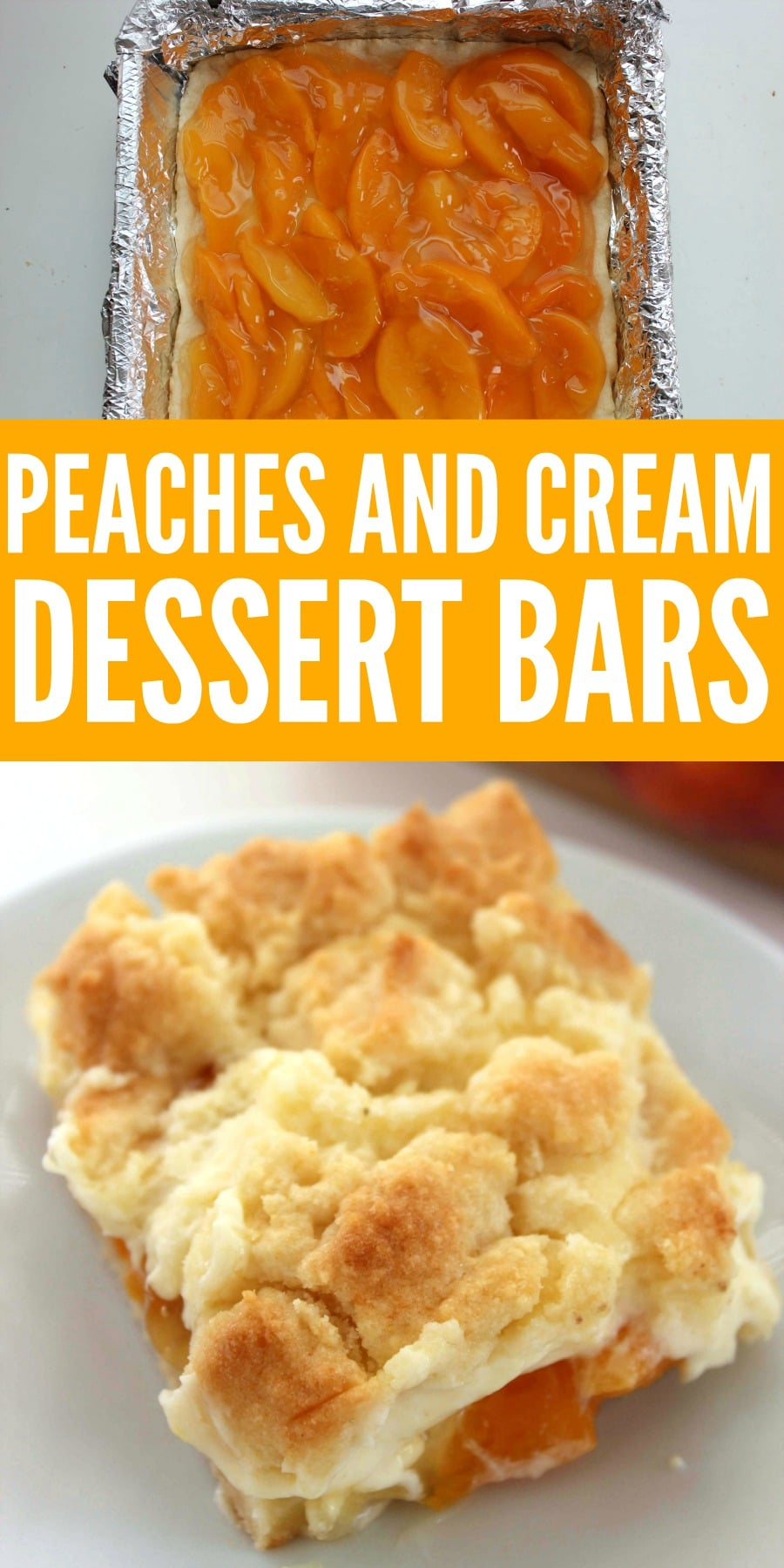 Peaches and Cream Dessert Bars Recipe