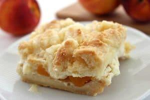 Peaches and Cream Dessert Bars