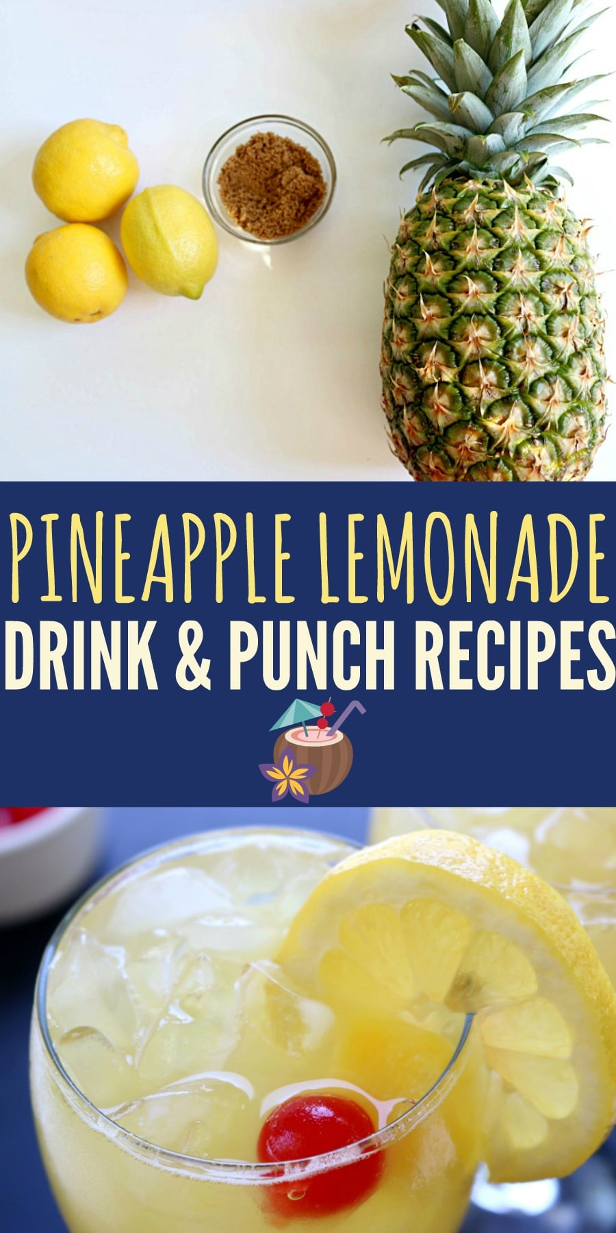 Pineapple Lemonade Drink and Punch Recipes