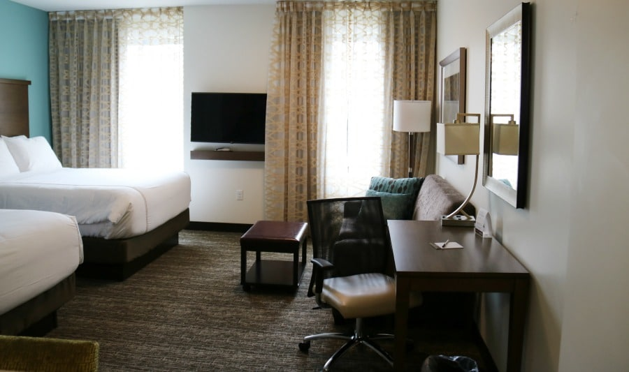 Staybridge Suites Seattle Room with Desk and SofaBed
