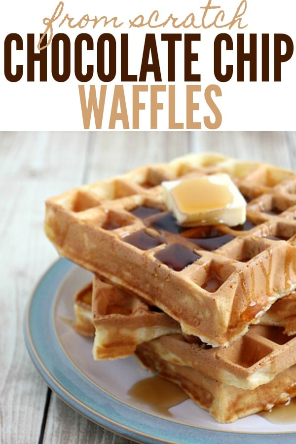 Chocolate Chip Waffles from Scratch