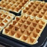 Chocolate Chip Waffles in Breville Waffle Maker