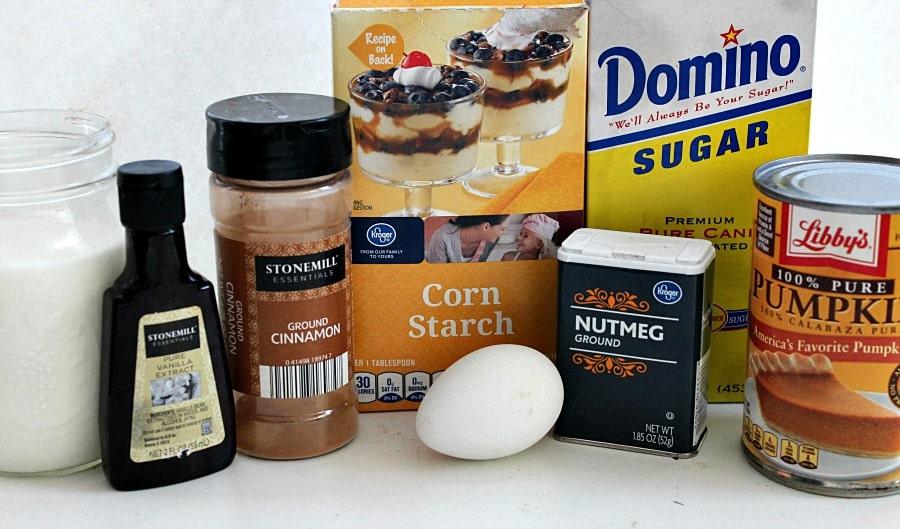 Pumpkin Pudding Ingredients