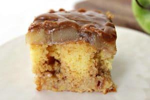 The Best Caramel Apple Poke Cake Recipe