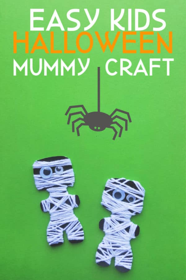 Easy Kids Halloween Mummy Craft
