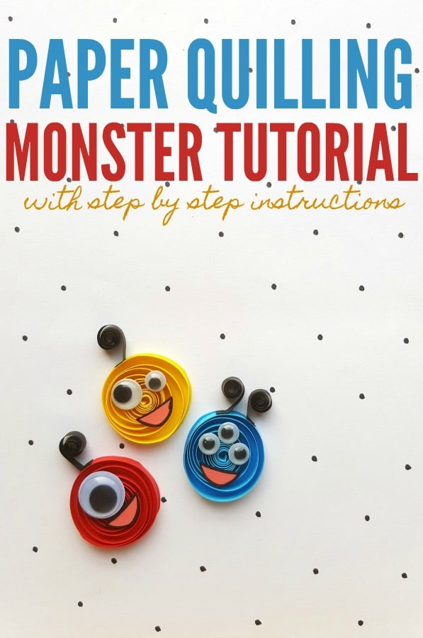 Paper Quilling Monster Paper Craft Tutorial