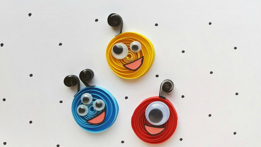 paper quilling monster craft