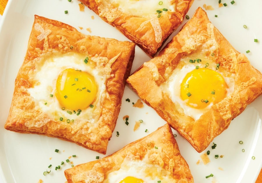 Air Fryer Puffed Egg Tarts Recipe