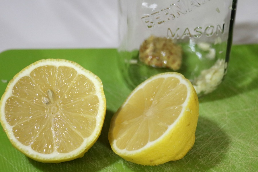 Kale Caesar Salad lemon