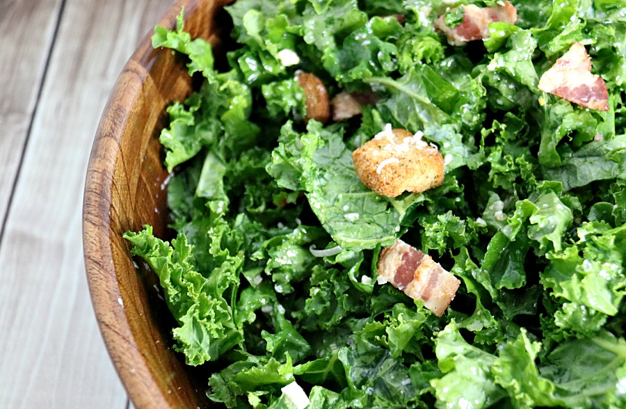 Kale Caesar Salad with Egg-Free Vinaigrette