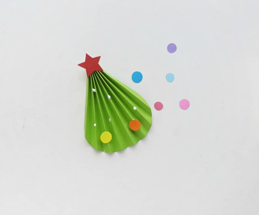 step (6) Christmas Tree Craft