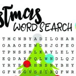 Christmas Word Search For Kids – Free Printable
