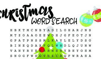 Christmas Word Search For Kids – Free Printable