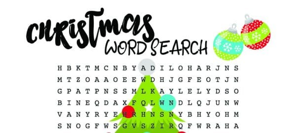 Word Search For Kids – Free Printable