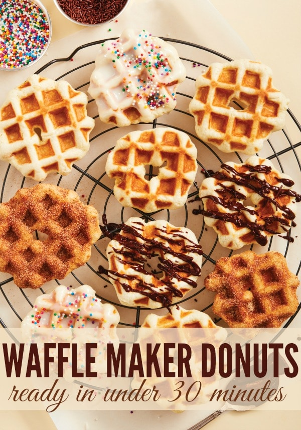 Easy Waffle Maker Donuts