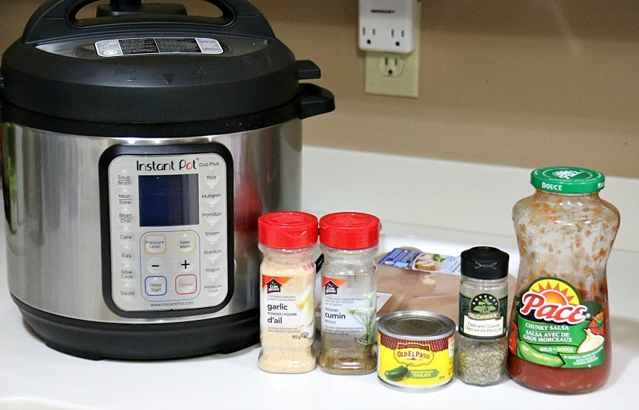 Instant Pot Mexican Chicken ingredients
