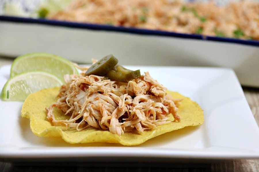 best Instant Pot Mexican Chicken on a Tostada