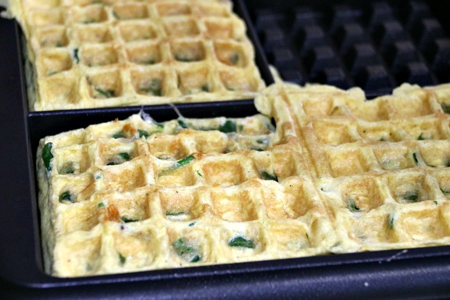 Spinach Omelette Waffles