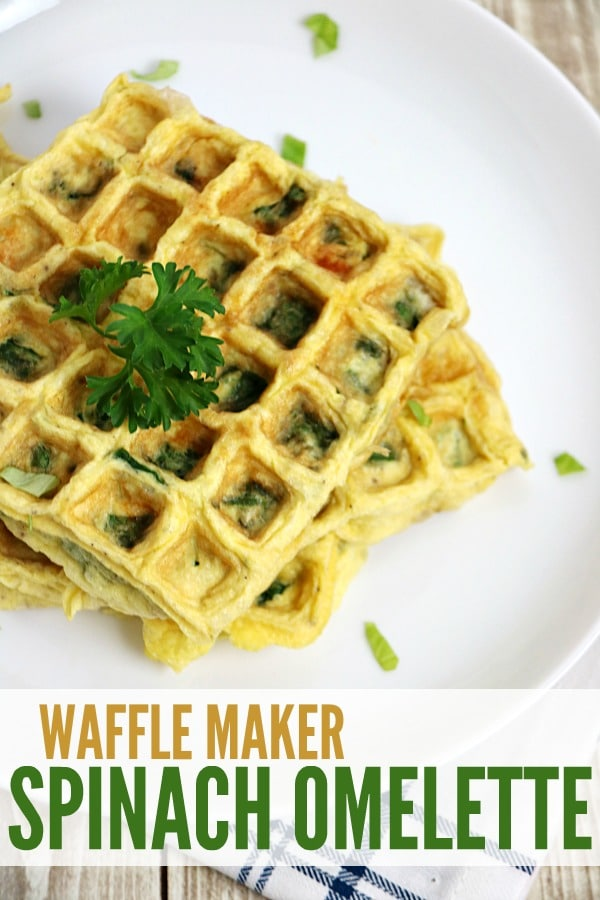 Waffle Maker Easy Spinach Omelette Recipe