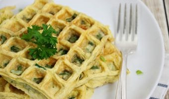 Easy Spinach Omelette Made in a Waffle Maker