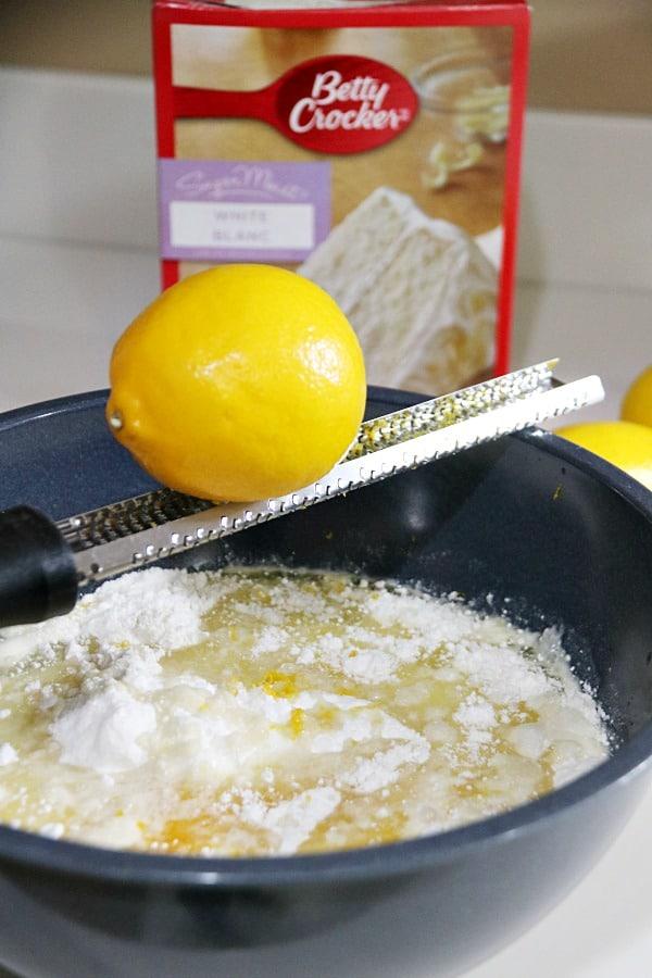 Lemon Cupcakes in process