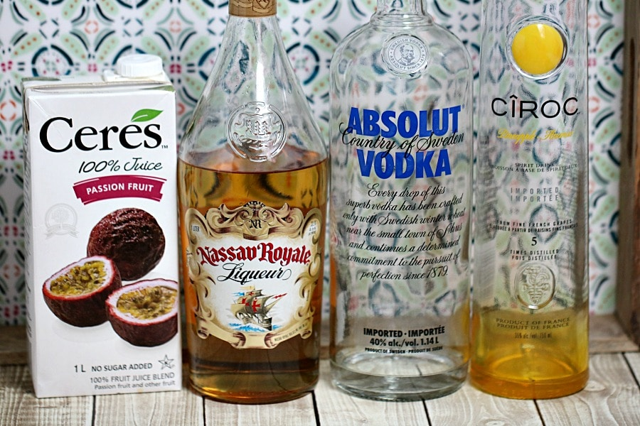 Passionfruit Martini Ingredients