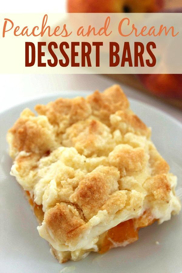 The Best Peach Dessert Bars